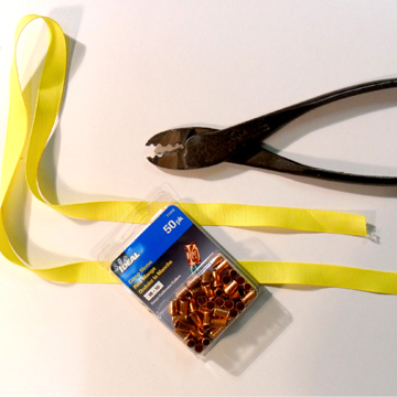 Supplies for a Crimp Lanyard
