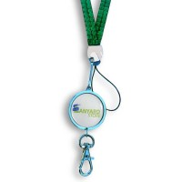 Custom Bling Lanyards with Printed Pendant