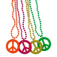 Custom Printed Peace Sign Necklaces