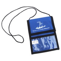 Custom Printed Neck Wallets with Velcro Flap