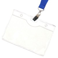 Clear Plastic Horizontal Badge Holders