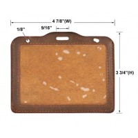 Leather Personalized Card Holders (Card Size: 4 1/2 X 3 1/8)