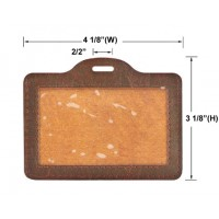 Personalized Leather ID Holders (Card Size: 3 3/4 X 2 1/2)