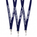 Blue Lanyard With White Imprint