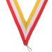 Yellow White And Red Award Ribbon