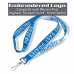 Woven logo - Embroidered custom lanyards