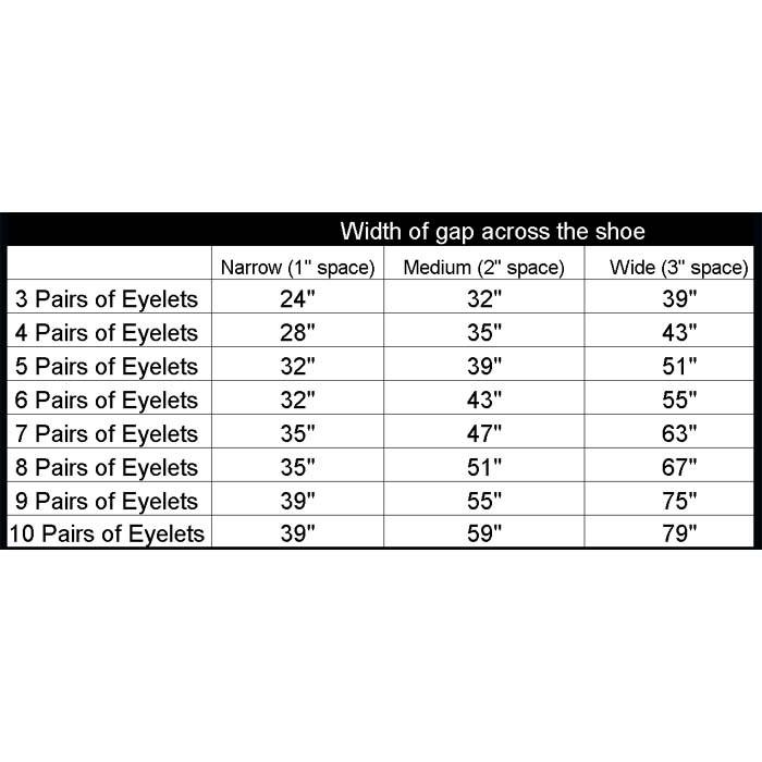 E Shoe Size Chart