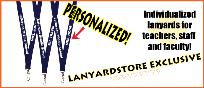 Individually Personalized Lanyards