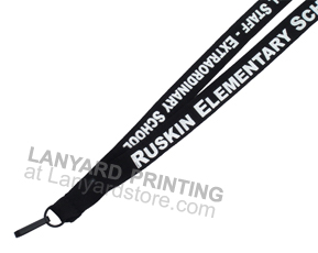 Here are printing for lanyards ID