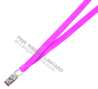 This is ribbon lanyard for pink ID